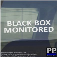 1 x Black Box Monitored Sticker-WINDOW Sign-Speed,Insurance Car,Van